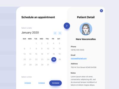 Scheduler UI scheduling ux ui design