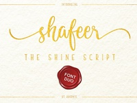 Shafeer -The Shine Sript- ( Font Duo )