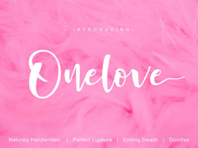 Onelove -Natural Handwritten Font-