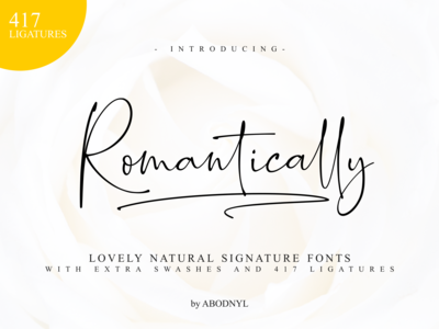 Romantically -Signature Font-