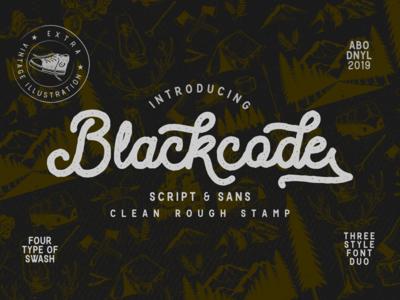 Blackcode -vintage font duo-