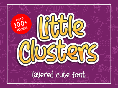 Little Clusters -layered cute font-