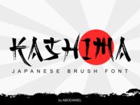 KASHIMA -japanese brush font-