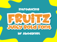 FRUITZ -Juicy Layered Bold Font-