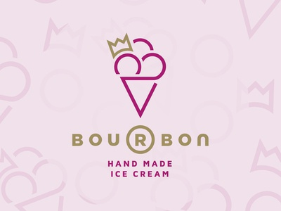 Bourbon - Hand Made Ice Cream - Logo