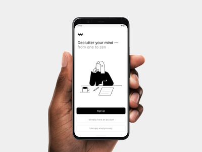 Sign Up Page ux android ios illustration dailyui mobile app ui minimal