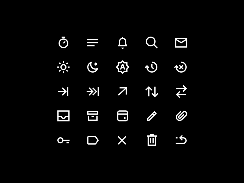 Wando Icon Set minimal iconset icon set iconography icons icon app ui