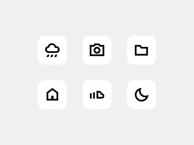 Minimalissimo iOS 14 Icon Set widget icon set ios 14 ios minimal