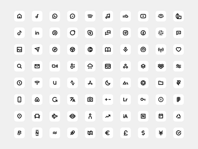 Minimalissimo iOS 14 Icon Set widget homescreen ios 14 icon pack app icon ios minimal