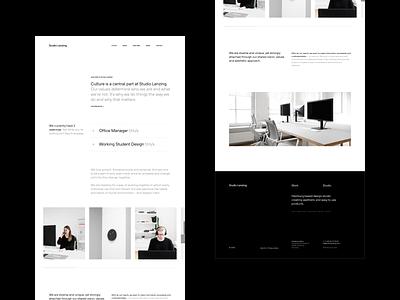 Studio Lenzing Jobs Page agency website jobs page jobs studio lenzing ui minimal