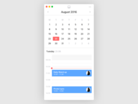 Mini Calendar UI