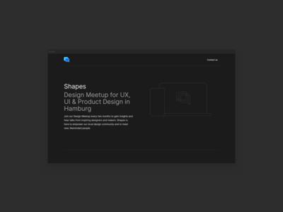 Shapes Design Meetups Website