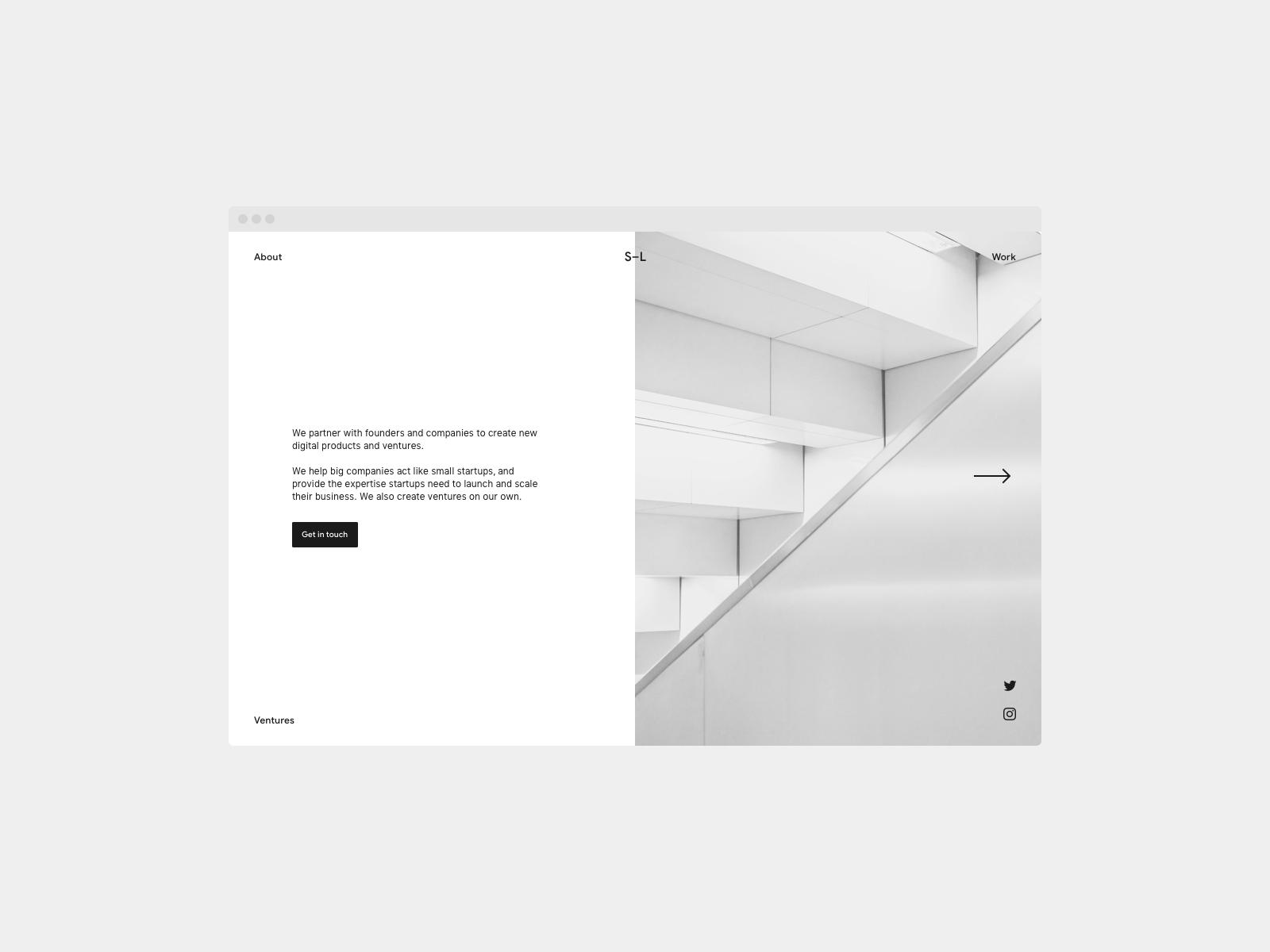 Daily UI 003 — Landing Page studio agency web dailyui 003 dailyui landingpage minimal ui