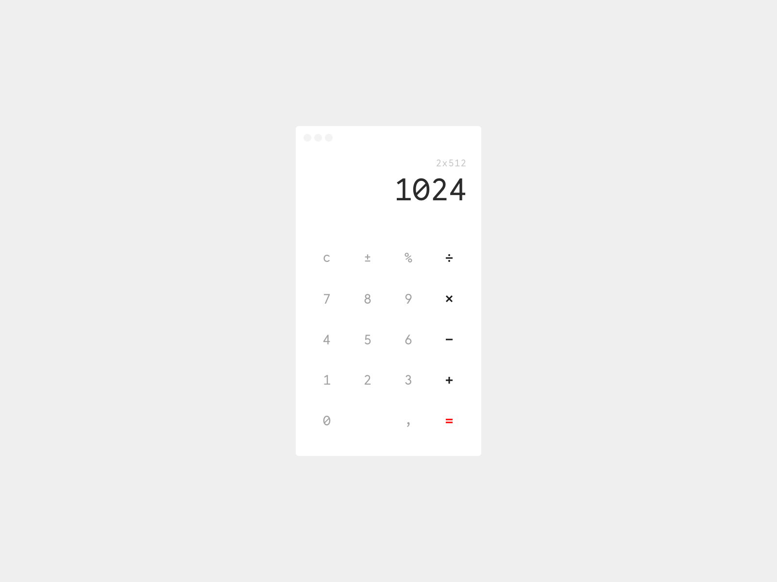 Daily UI 004 — Calculator