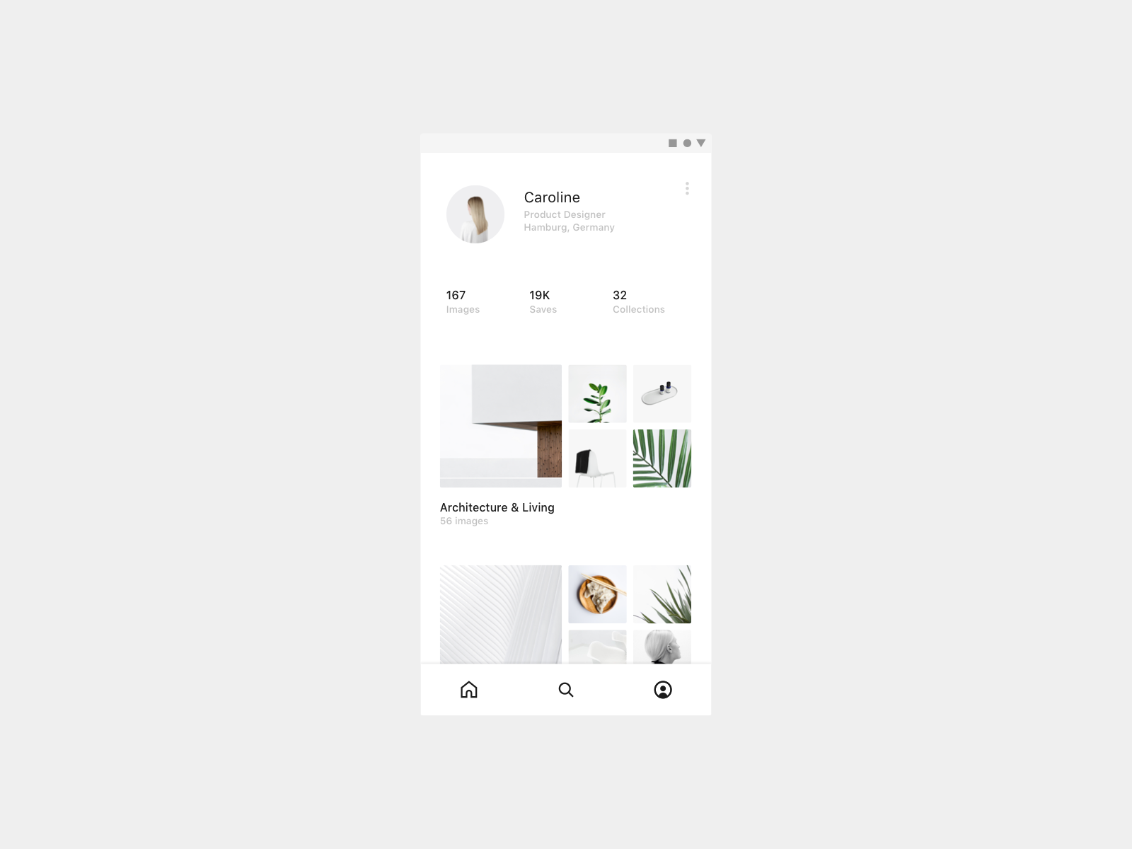 Daily UI 006 — User Profile minimal app ux ui mobile 006 dailyui profile user