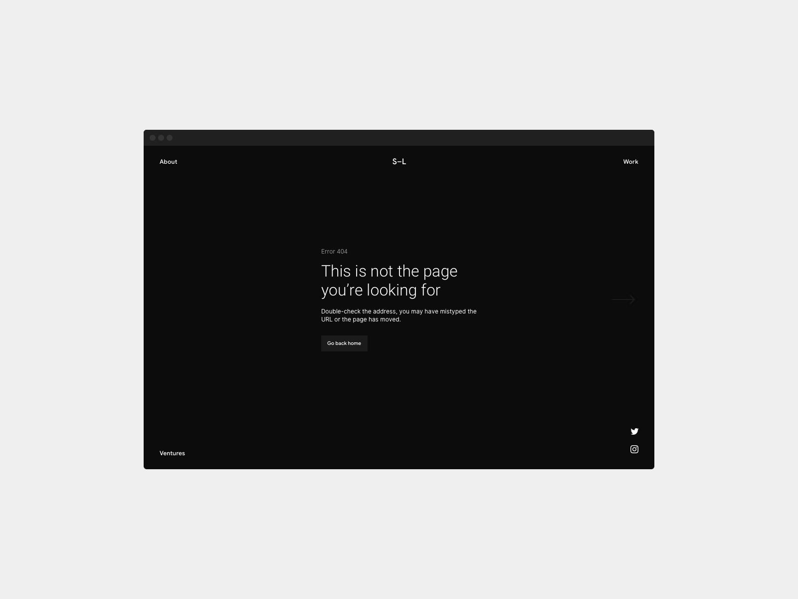 Daily UI 008 — 404 Page 404 error web minimal ui dailyui 404