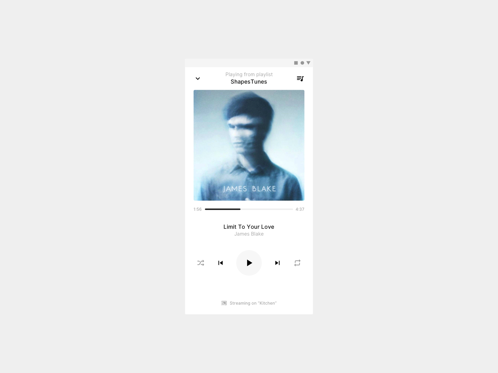 Daily UI 009 — Music Player icons material minimal android ios ux ui dailyui player music