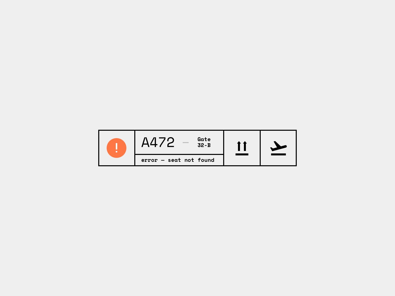 Daily UI 011 — Flash Message (Error)