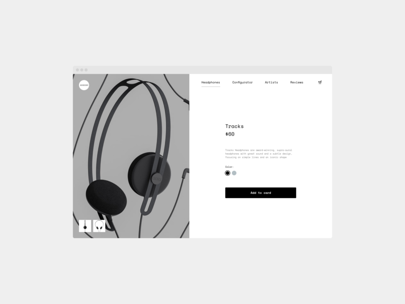 Daily UI 012 — Product Page webos minimal ui dailyui 012 product page shop
