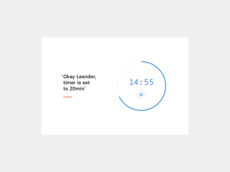 Daily UI 14 — Timer UI voice dailyui ui ux minimal timer