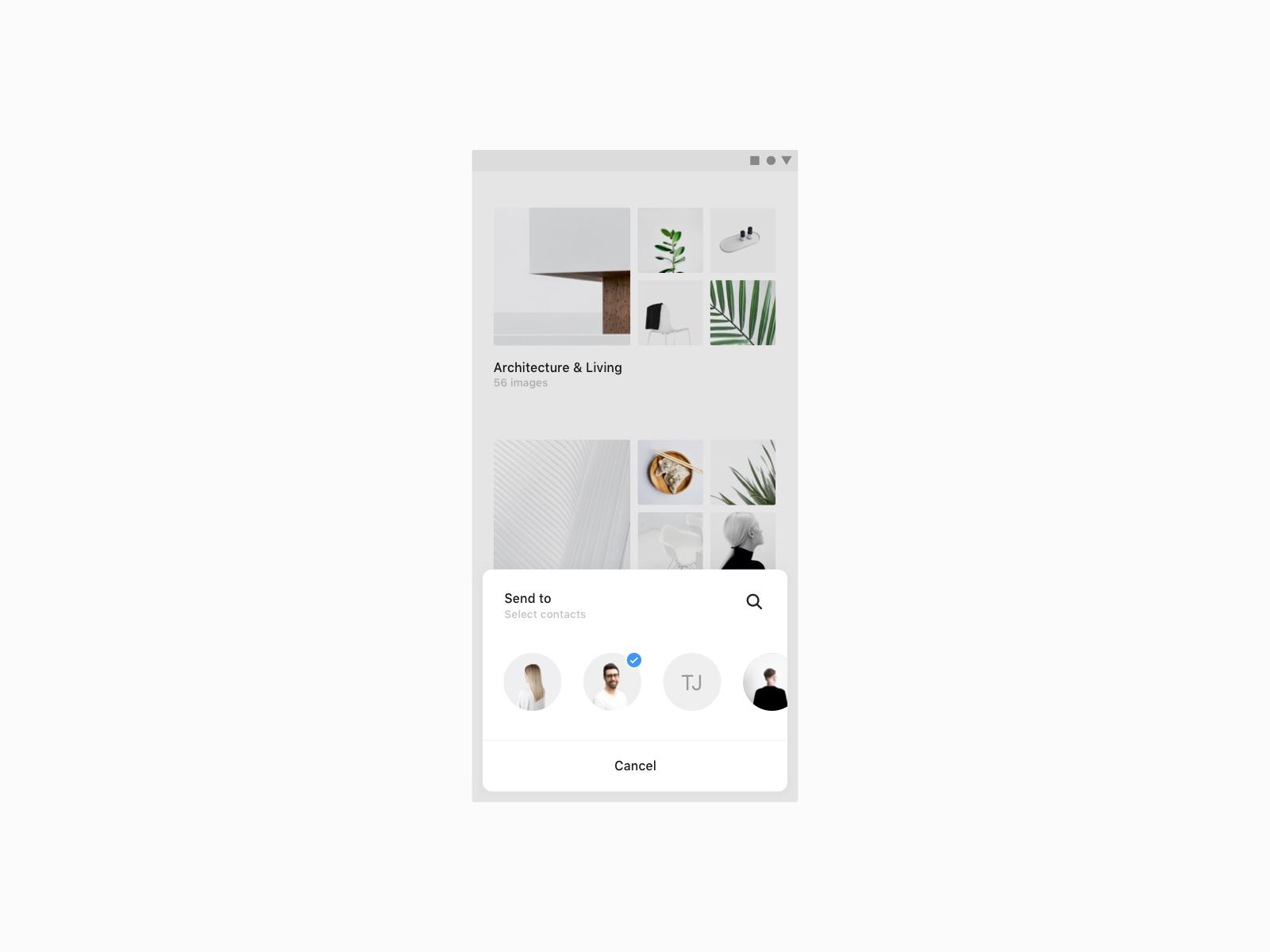 Daily UI 016 — Overlay dailyui app android minimal mobile ios ux ui popup overlay