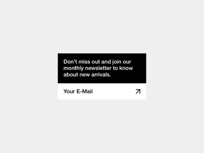 Daily UI 026 — Sign Up Form newsletter signup email web minimal ux ui