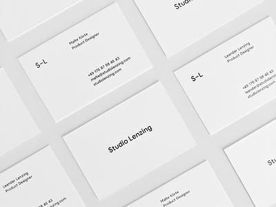 Studio Lenzing Business Cards ci branding brand minimal