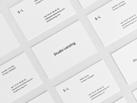 Studio Lenzing Business Cards