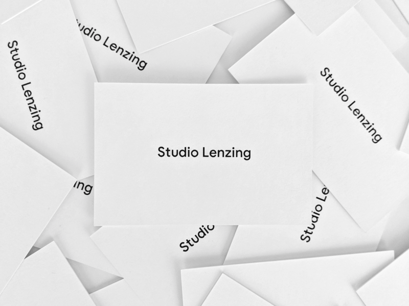 Studio Lenzing Businesscards logo branding brand businesscards