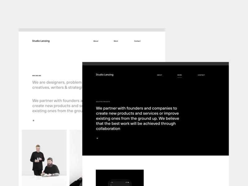 Studio Lenzing website redesign studiolenzing web minimal ux ui