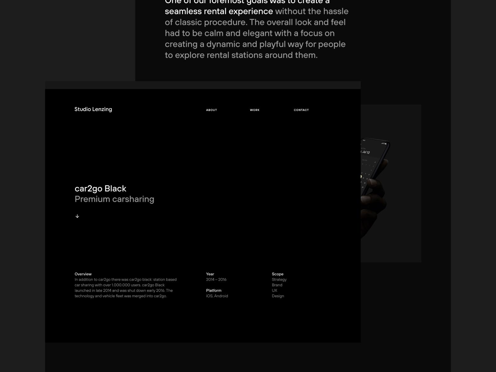 Studio Lenzing website redesign