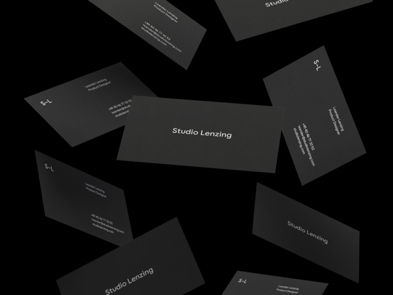 Studio Lenzing Business Cards black business cards minimal studiolenzing