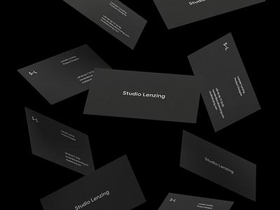 Studio Lenzing Business Cards black business cards minimal studiolenzing