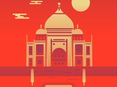 Taj Mahal taj mahal india travel video progress vector gradient