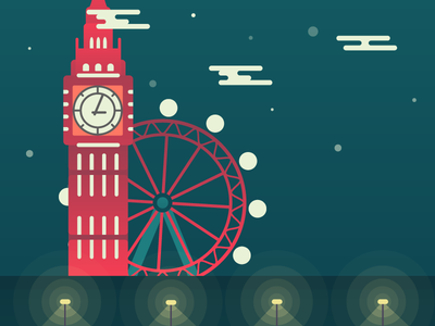 London Town london city illustration big ben london eye