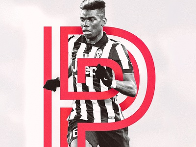 Paul Pogba 'P' p typography soccer football pogba paul