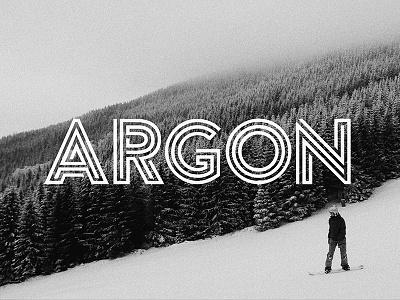Argon (Free Font) typeface monogram lines white black designer bold typography fonts dowload font free