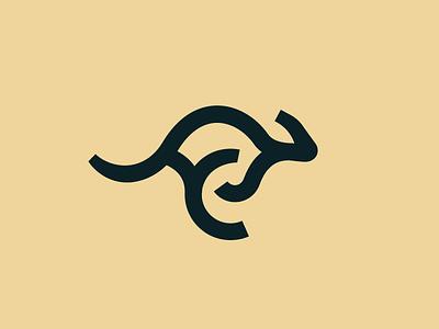 Kangaroo kanga asia oz aussie cangaroo mammal animal logos australia logo line kangaroo