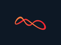 Ant Logo fire. red line gradient ants logo ant