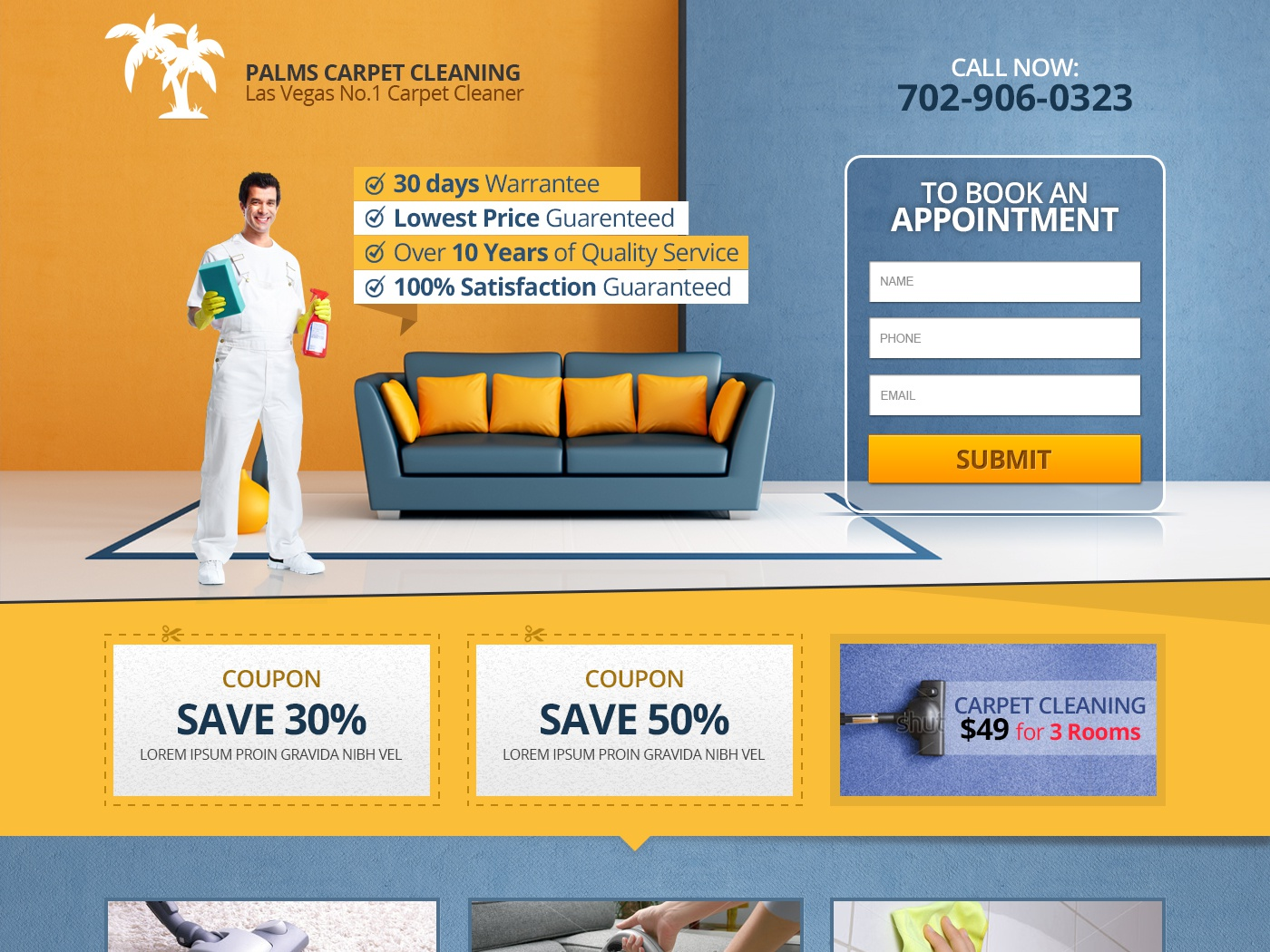 Palms Carpet Cleaning Landing Page By