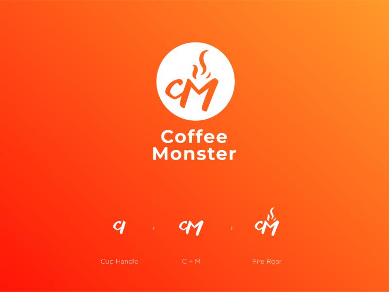 Coffee Monster coffee shop monster coffee brand indentity logo branding logo