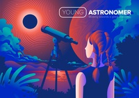 Youth Astronomer Art in Vector