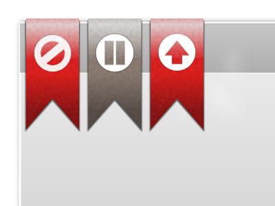 Kanban Status Ribbons ui web