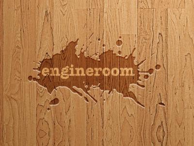 Our logo on wood logo