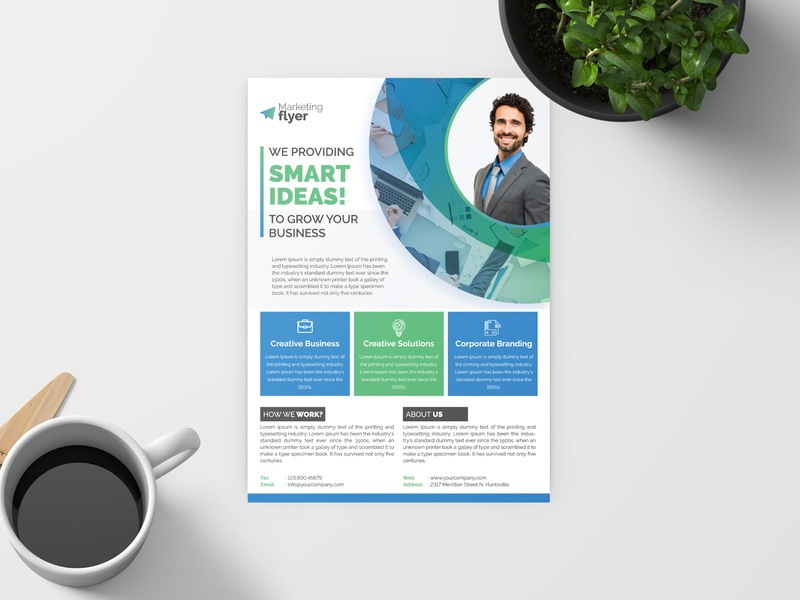 Corporate Flyer illustrator illustration mobile character animation lettering typography web ux app minimal flat vector logo ui branding identity icon design advertisement