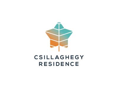 Csillaghegy Residence – Logo Design star residence logo leaf
