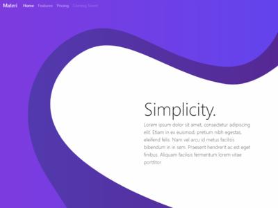 Basic Flat Vector Web Design