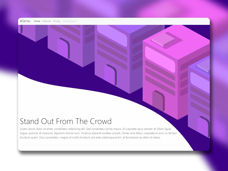 Vector Home Page Concept ux branding website minimal flat ui bootstrap vector scss javascript html 5 illustration responsive css animation web design