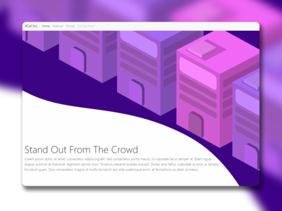 Vector Home Page Concept