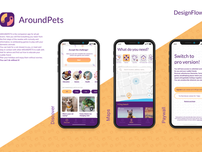 Around Pets - Designflows 2020 animal pet app icon app design contest pets ios app ios app design designflows2020 designflows uxdesign ux  ui mobile ui mobile app design ui design ui app